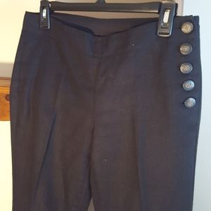 Anthropologie Elevenses  black pants. Size 4